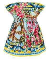 DOLCE & GABBANA ROSE & WHEEL DRESS AND BLOOMERS 6-9 MONTHS