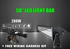 50Inch 288W Combo LED Light Bar SUV Offroad Driving Lamp + Free Wiring Harn