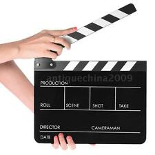 Director Video Scene Clapperboard TV Movie Action Clapper Board Film Slate E6Q9