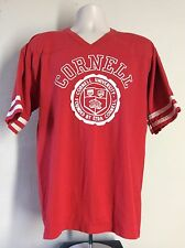 Vtg 80s Cornell University Football Jersey Style T-Shirt Red XL 50/50 Jerzees