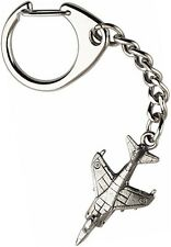 Harrier Jump Jet Plane Keyring  -  Beautiful Quality Pewter
