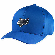 Fox Racing Mens Guys Legacy Flexfit Hat Black Fox Head Logo Ball Cap