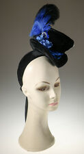 Victorian Steampunk Mini Ladies Black Velour Top Hat