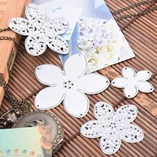 4pcs Flowers Metal Cutting Dies Stencil Scrapbook Album Embossing DIY Card Craft