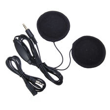 3.5mm Motorcycle Helmet Speaker Headphones Plug Volume Control + Extended Cable