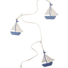 SAILING BOATS GARLAND Wooden Shabby Chic Home Nautical Bathroom GIFT