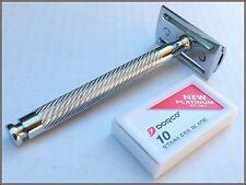 ARD Long Handle Stainless Steel Safety Razor Silver For Manual Shaving