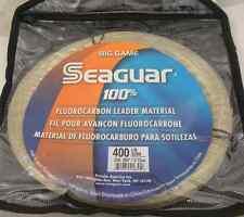 SEAGUAR 400FC30 FLUOROCARBON INVISIBLE LEADER MATERIAL 400LB Test 30M 15223
