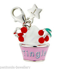 Tingle Sterling Silver clip on Ice Cream Cup Charm with Gift Bag and Box SCH223