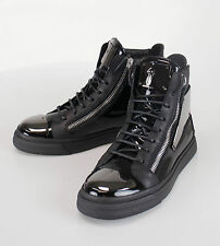 New. GIUSEPPE ZANOTTI London Vernice Hi-Top Sneakers Shoes 7 US 40 EU $1325