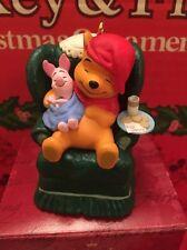 Christmas Disney Hallmark Keepsake Winnie The Pooh Waitin On Ornament In Box