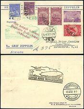 66/Zeppelin Brasilien Brazil 1932 2. Südamerikafahrt MiF Postkarte LZ 127 Si 144