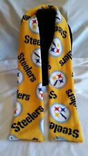 """Hand Crafted Pittsburgh Steelers NFL Gold Fleece Scarf 58"""" NEW Free Shipping"""