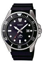 Casio MDV106-1A Men's Duro 200M Black Resin Band Black Dial Analog Dive Watch