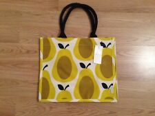 BNWT Orla Kiely Pera Giallo Stampa Iuta Shopping Bag