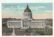 Civic Hall San Francisco USA Vintage Postcard 138a