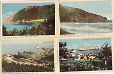 QUEBEC CANADA LOT OF 4 VUE de PIC de L'AURORE PERCE GASPE WEEPING COVE Postcard