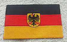 GERMANY FLAG PATCH Embroidered Badge 6cm x 9cm Deutschland Bundesdienstflagge