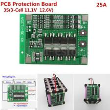 New 3S 11.1V 25A w/Balance 18650 Li-ion Lithium Battery BMS Protection PCB Board