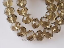 70 Pcs Faceted Crystal Glass Loose Beads Rondelles DIY Jewelry Findings 8mm
