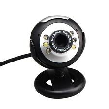 6 LED Camera Web Cam USB Webcam with Mic 120fps for PC Laptop Computer new