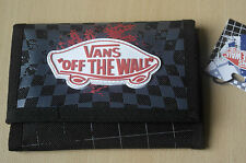 Vans Off The Wall Slipped Deppster Black White Checked Trifold Wallet New NWT