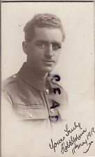 WW1 soldier Robert S Muir ASC Gordon Highlanders London Scottish ?