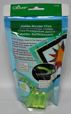 Clover Neon Green Jumbo Wonder Clips 24 Pieces 3182