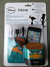 iHome Disney Phineas And Ferb Portable Rechargeable Speaker (NEW)