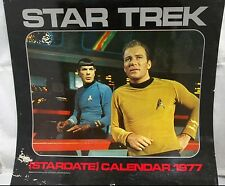 1977 Star Trek TV Series 12 Month Stardate Calendar Used Shatner Nimoy Spok Kirk
