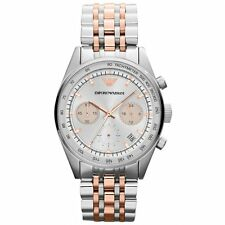 *NEW* EMPORIO ARMANI AR6010 LADIES TWO TONE ROSE GOLD WATCH TAZIO CHRONOGRAPH