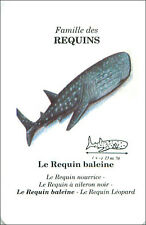 PLAYING CARD CARTE A JOUER  Requin-baleine Rhincodon typus Whale shark