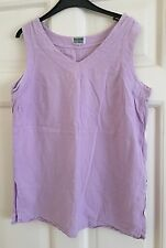 Womens 90s Light Purple Top Size L