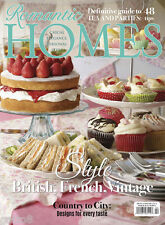 ROMANTIC HOMES April 2015 British French Vintage Country Style Tea Parties Decor