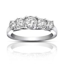 1.75 ct Ladies Round Cut Diamond Wedding Band Ring In 18 Karat White Gold
