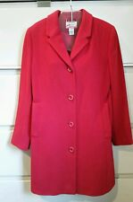 Ladies LL Bean Red wool cashmere coat sz. 6 nice shape