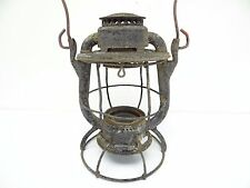 Vintage Used Dietz Vesta New York Railroad Lantern Body Lamp Cage Parts Old