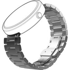 New Official Motorola Metal 23 mm Watch Band For Moto 360 Natural Metal (89774N)