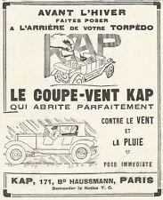 W7981 Le coupe-Vent Kap - Pubblicità del 1926 - Old advertising