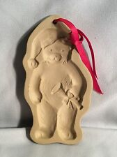 1990 Brown Bag Cookie Art Christmas Teddy Bear W/Trumpet Mold
