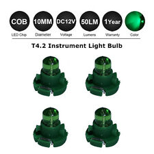 4X Green 10MM T4 /T4.2 Neo Wedge 1SMD LED Cluster Instrument Dash Climate Bulbs
