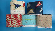 Moda Scrap Bag Fabric Strips RED WHITE & FREE by Sandy Gervais