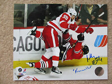 NIKLAS KRONWALL CRUSHES MARTIN HAVLAT AUTOGRAPHED 8X10  DETROIT RED WINGS