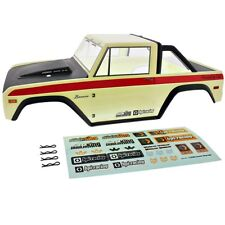HPI 1/10 Crawler King *1973 WHITE & BLACK FORD BRONCO BODY SHELL, DECALS & CLIPS