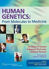 Human Genetics - From Molecules to Medicine  by Schaaf (2011, Paperback)