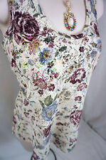 BKE by The Buckle BOUTIQUE Floral Lace Sheer Womens Tank Top Shirt Size S Small
