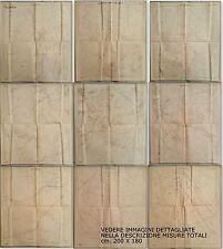 FASCISMO-ROMA IMPERIALE-PLANIMETRIA DI ROMA E SUBURBIO 9 FOGLI-ENORME-mt.2 x 1,8