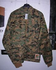 GENUINE RARE USMC MARPAT WOODLAND FROG INCLEMENT WEATHER SHIRT NEW !!! MED LONG