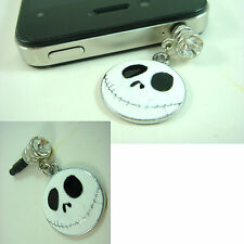 Nightmare Before Christmas Face Anti Dust Plug Cover Charm For iPhone 5 Samsung