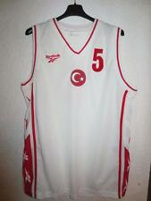 Maillot basket porté n°5 TURQUIE Reebok match worn shirt Turkey XL vintage